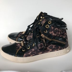 Guess Leopard print High Top Sneakers